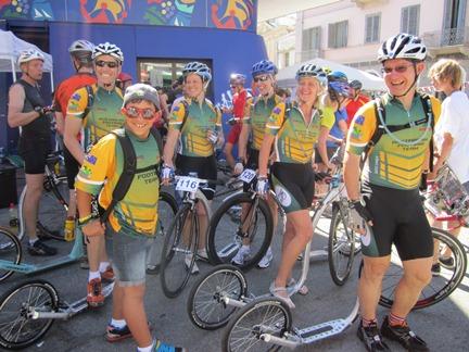 Australian Footbike Team at the Marathon, Ivrea