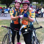 Footbikers - Jo Hassan and Lyn Cook