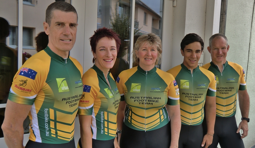 Aussie Team at the World Footbike Championships