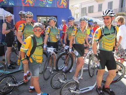 Australian Footbike Team at the Marathon, Ivrea