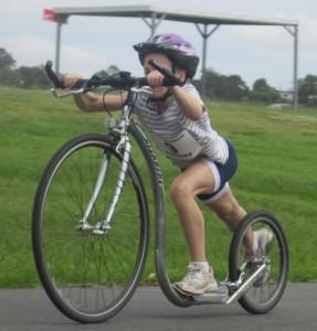 Cara Jardine Footbiking