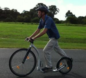 Brian Haupt Footbiking