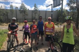NSW Footbikers Brave Heat to Get Race Ready