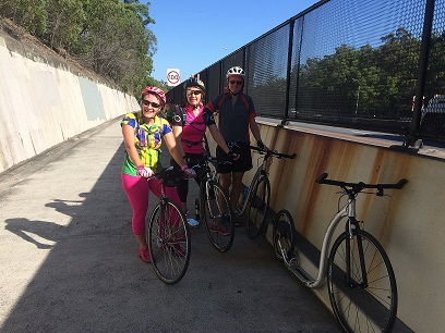 Footbikers on Bike Track at Mount Gravatt