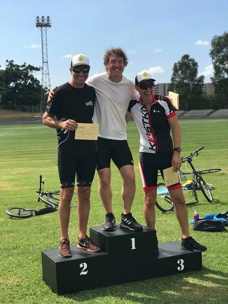 10km Masters on Podium